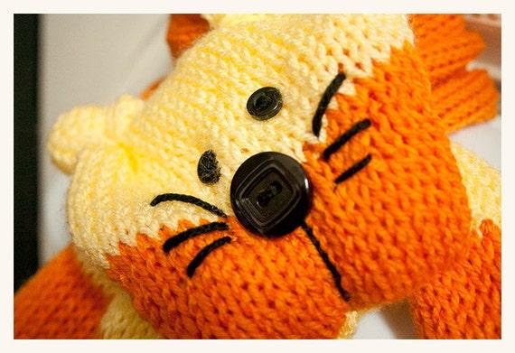 Stripey kitty scarf cowl neckwarmer