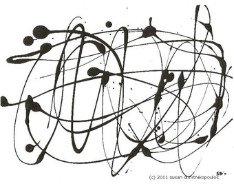Hypnotique - abstract print, wall art, home decor, office decor