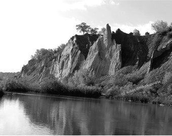 Scenery, Bluffer's Park, Toronto Canada, Scarborough Bluffs, black white, fine art photograph, wall art, home office decor, gift 25