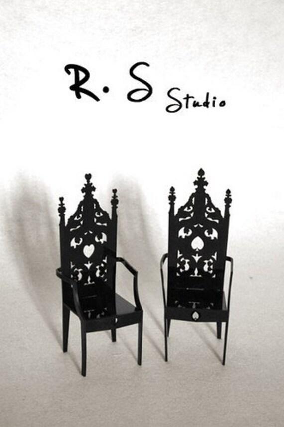 NO.4  spade Alice in Wonderland Series Chair for blythe pullip momoko bjd furniture R.S. Studio