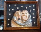 Let it Snow Custom made One Of A Kind Clay Portrait..