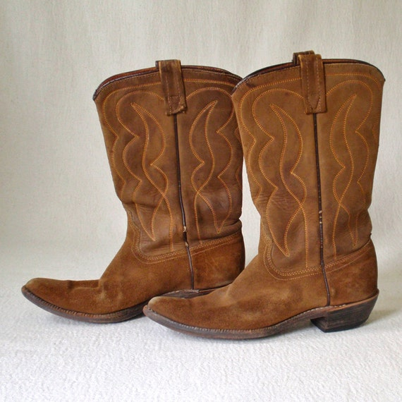 Vintage Acme Leather Cowgirl Boots