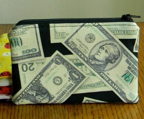 """Change Purse Wallet 6"""" x 4"""" - Show Me the Money"""