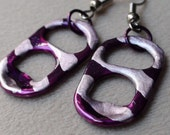 Eco-Friendly Purple and Silver Earrings