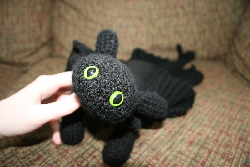 Toothless Crochet Pattern by CeciliaMCreations on Etsy