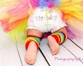 Personalized Birthday  Rainbow First Birthday Bloomers Diaper Covers