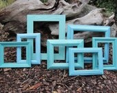 Picture Frame Collection Turquoise, Aquamarine, Blue and Green Beach Cottage Picture Frames