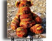 Huggable Horace - knitted teddy bear pattern.