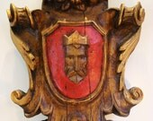 Vintage, Vanguard Studios, 1967, Wall Sculpture, Red, Gold, King, vintage by ChaseVintage on Etsy