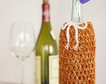 Wine Bottle Cozy in Gingersnap