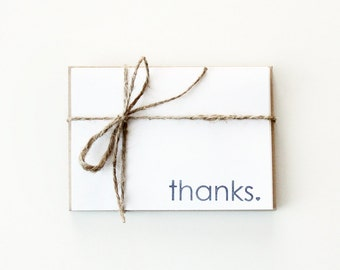 Thanks Folded Cards (Set of 5)