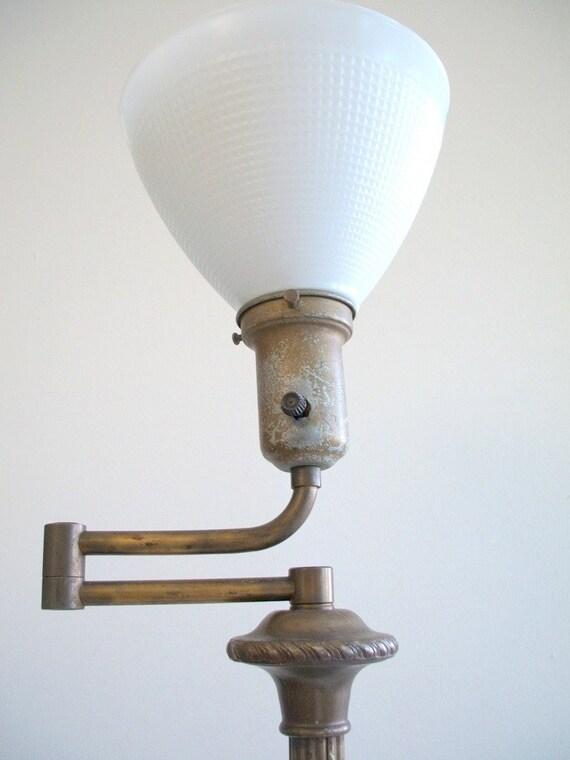 reserved brass rembrandt swing arm floor lamp waffle. Black Bedroom Furniture Sets. Home Design Ideas