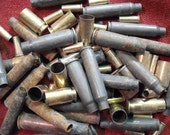 Bullet Shells and Casings - Huge Lot - Bite The Bullet, Spent Casings, Ammunition, Steampunk Jewelry Components