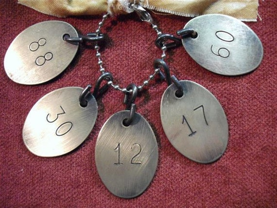 Brass Livestock Numbered Tags