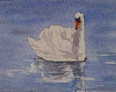 ACEO - Swan - 7 Card Draw