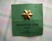 Vintage Girl Scouts Membership Star Pin 9-652 Treasury Item