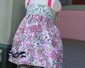 Fun Halter Top and Bloomer Set, size 18/24mo, Ready to ship