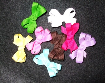 Set of 5 infant hair bows, your choice of color