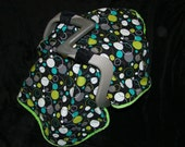 Hoopla in Lagoon Minky Carseat CANOPY Blanket- - Ships in 1-3 Days