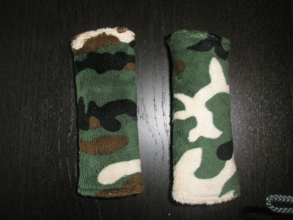 CAMO Minky Car seat Strap Covers- Car Seat Strap Covers- Boy Carseat Covers- Minky Car Seat Strap Covers- - Ships in 1-3 Days