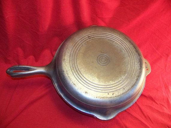 Wagner Ware Nickel Plated Cast Iron No. 8 Hinged Double Skillet 0009