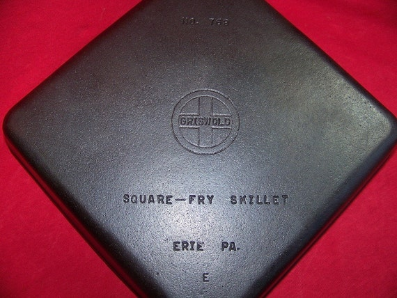 Griswold Cast Iron Square Fry Skillet 0158