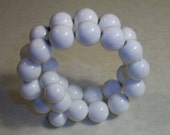 Vintage White Glass Coil Bracelet