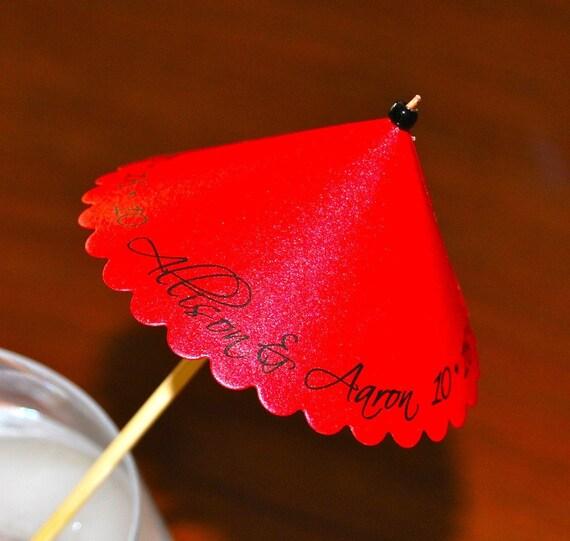 Personalized Mini Umbrellas (25 Raving Red)