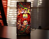 Lighting Table Lamp, Desk Lamp Elephant Mosaic Stained Glass Lamp-Memories of India