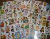 Vintage Childrens Playing Cards-Scrapbooking-Altered Art-GREAT LOT