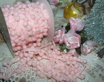Pom Pom Trim-Precious Pink-Altered Art-Mixed Media-Supplies-3 yards