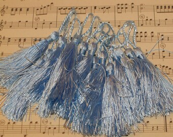 French Tassels-DIY-Garland-Bunting-Supplies-Marie Antoinette-6 pieces-French Blue