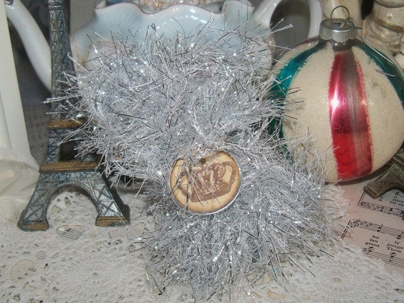 Holiday Bakers Twine-Silver Tinsel-10 yards