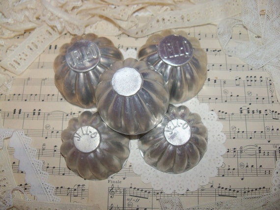 Vintage Metal Jello Molds-Set of 6