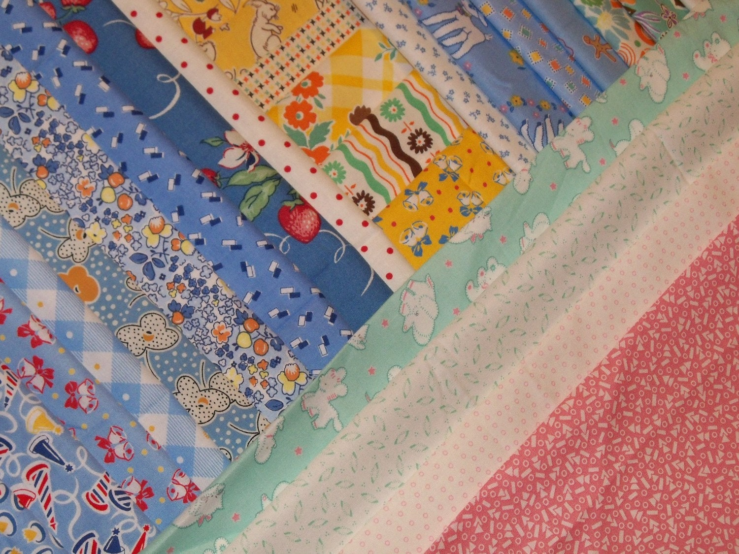 Reproduction Feedsack Fabric Quilt By Fleamarketfloozie On