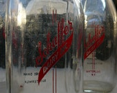 SALE Vintage Milk Bottle: Schaffer Dairy Waterloo, NY Great Vase Alternative Weddings Parties