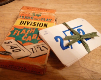 C. 1960s Vintage Whitman Learn & Play Division Flash Cards