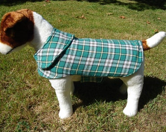 Dog Jacket -  Cape Breton Tartan Dog Coat- Size Small- 12-14 Inch Back Length - Or Custom Size