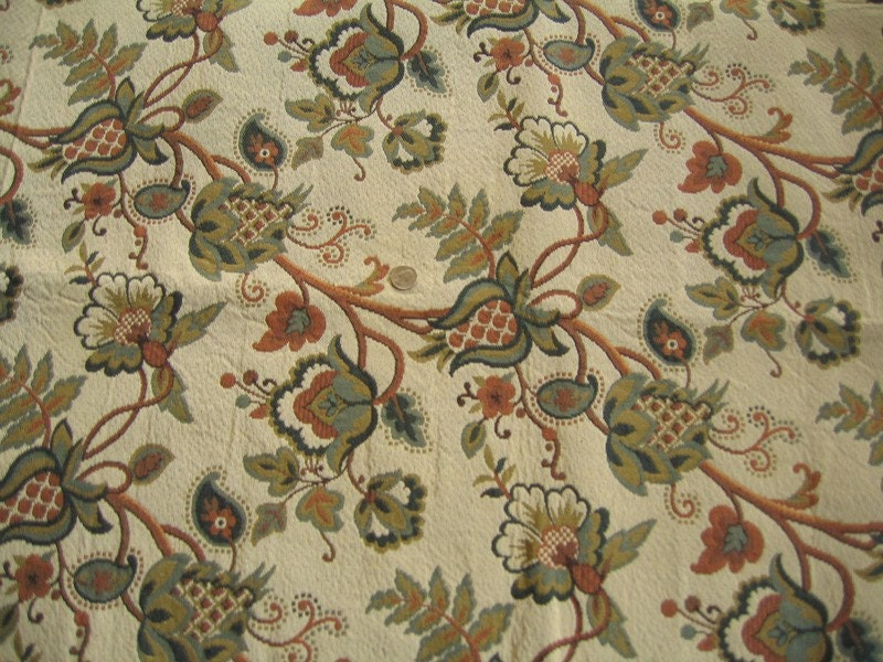 Jacobean Tapestry Designer Fabric By Lafayettehouse On Etsy