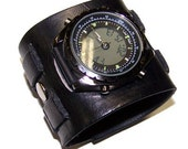 Item 031711 Everyday Cool Wide Leather Watch Cuff - (watch face not included)