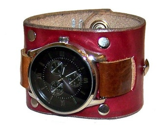 Item 010210 Hand Made Leather Watch Cuff