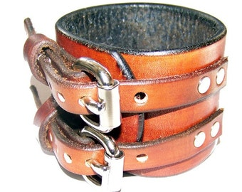Item 021110 Johnny Depp Style Leather Wrist Cuff
