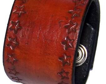 Deep Tan Leather Wrist Cuff