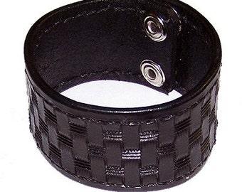 Item 020111 Hand Embossed Leather Wrist Cuff Bracelet Wristband