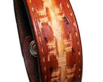 Item 050110 Hand Made Southwestern Leather Bracelet