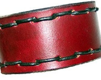 Item 072110 Hand Made Leather Wrist Cuff Bracelet Wristband