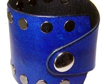 Item 020810 Babylon 5 Deep Purple Leather Wrist Cuff Bracelet Wristband