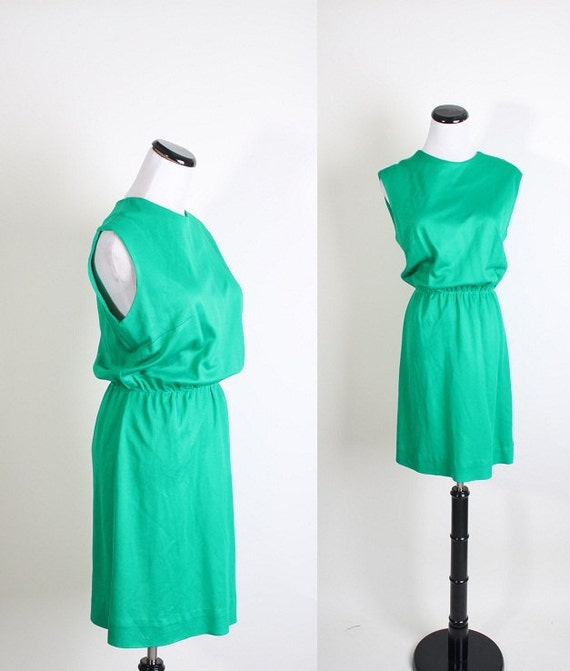 Emerald Green Dress / 1960s Dress / 60s Dress / Dress / Dresses / Green / Office Fashion / Mod / Mad Men / Shift Dress / 1097