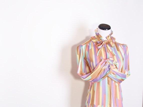 Secretary Blouse / Aztec Blouse / Summer Fashion / South Western / South West  / Pastel / Western /1129