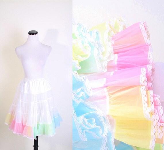 Pastel Crinoline - Multicolor Pastels - Spring Fashion - Easter - Petticoat - Tutu - Rainbow - Multicolour - Short Crinoline - 1037